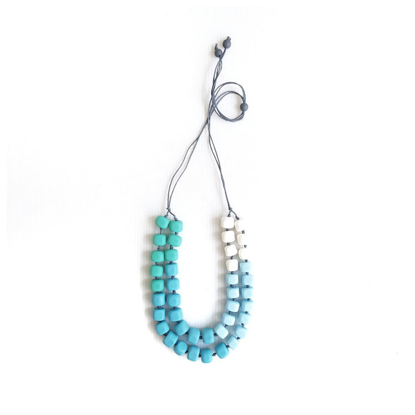 Rubic Pastel Blue Necklace
