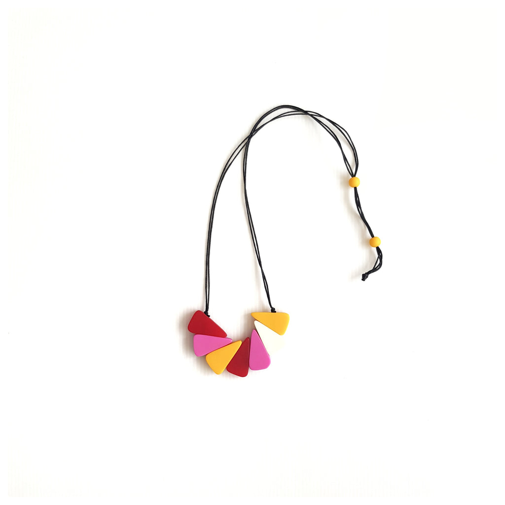 Twister Pink Necklace