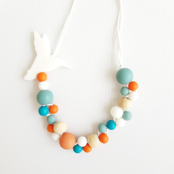 Hummingbird White Necklace
