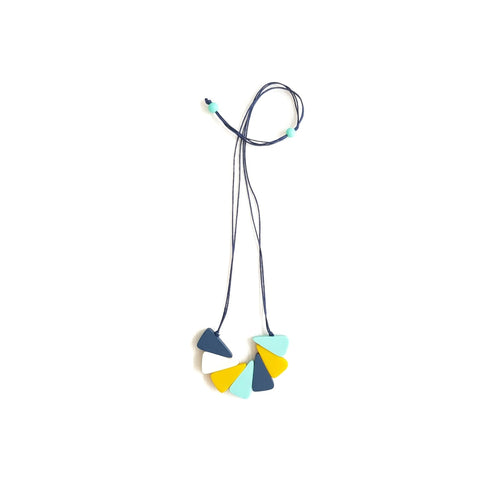 Twister Blue Necklace