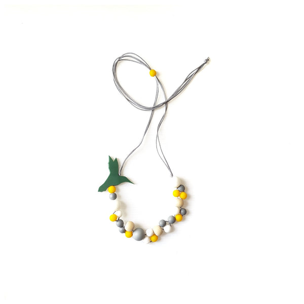 Hummingbird Green Necklace
