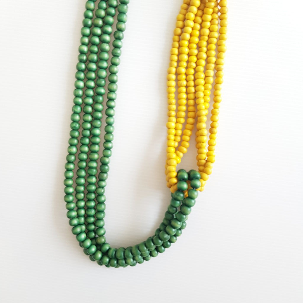 Alethea Yellow Green Necklace