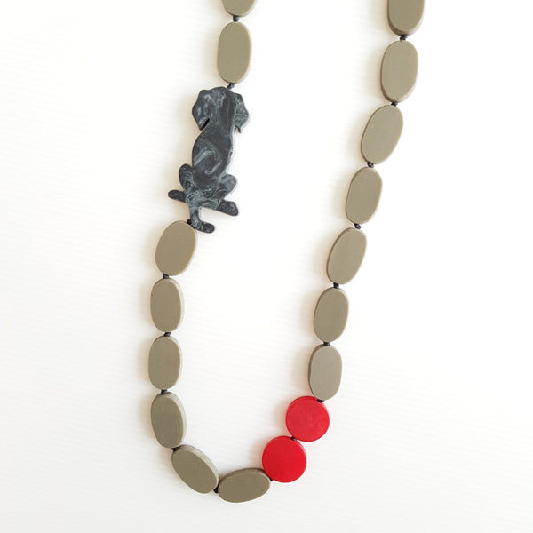 Labrador Black Necklace