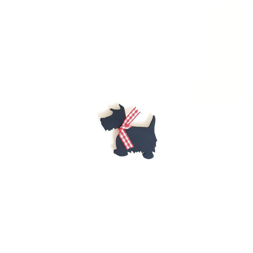 Scottish Terrier Black Brooch