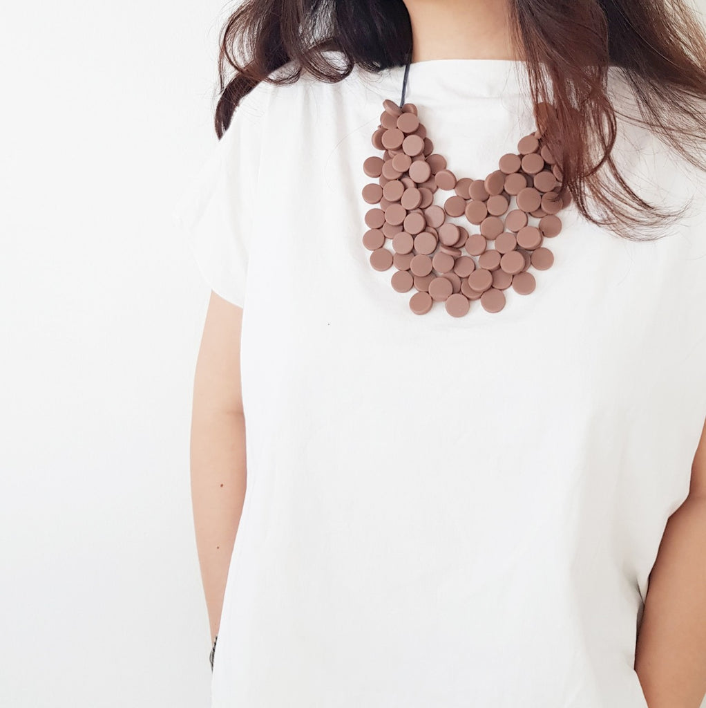Gracia Mocha 4 layers Necklace