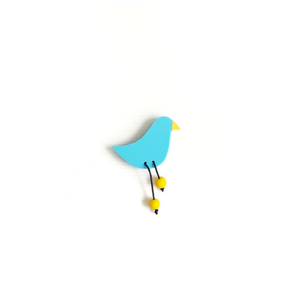 Mountain Bluebird Brooch