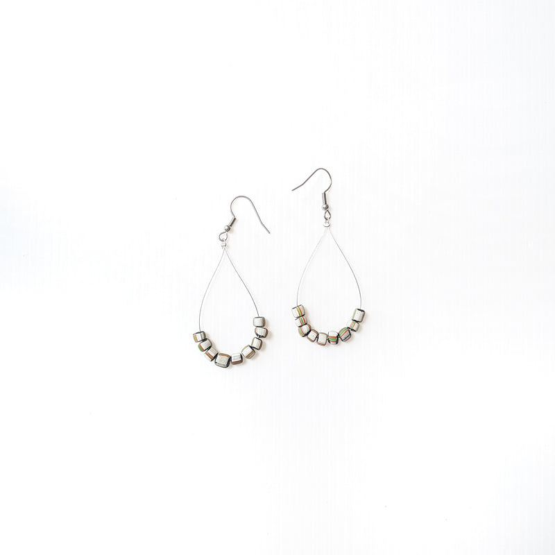 Melinda Beige Earrings