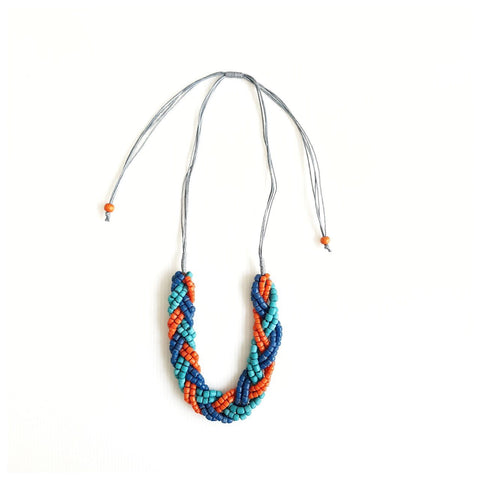 Brayde Mini Orange Blue Necklace