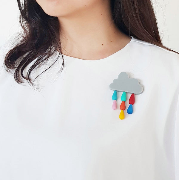 Cloud Rainbow Brooch