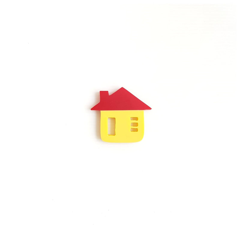 Red Roof House Brooch