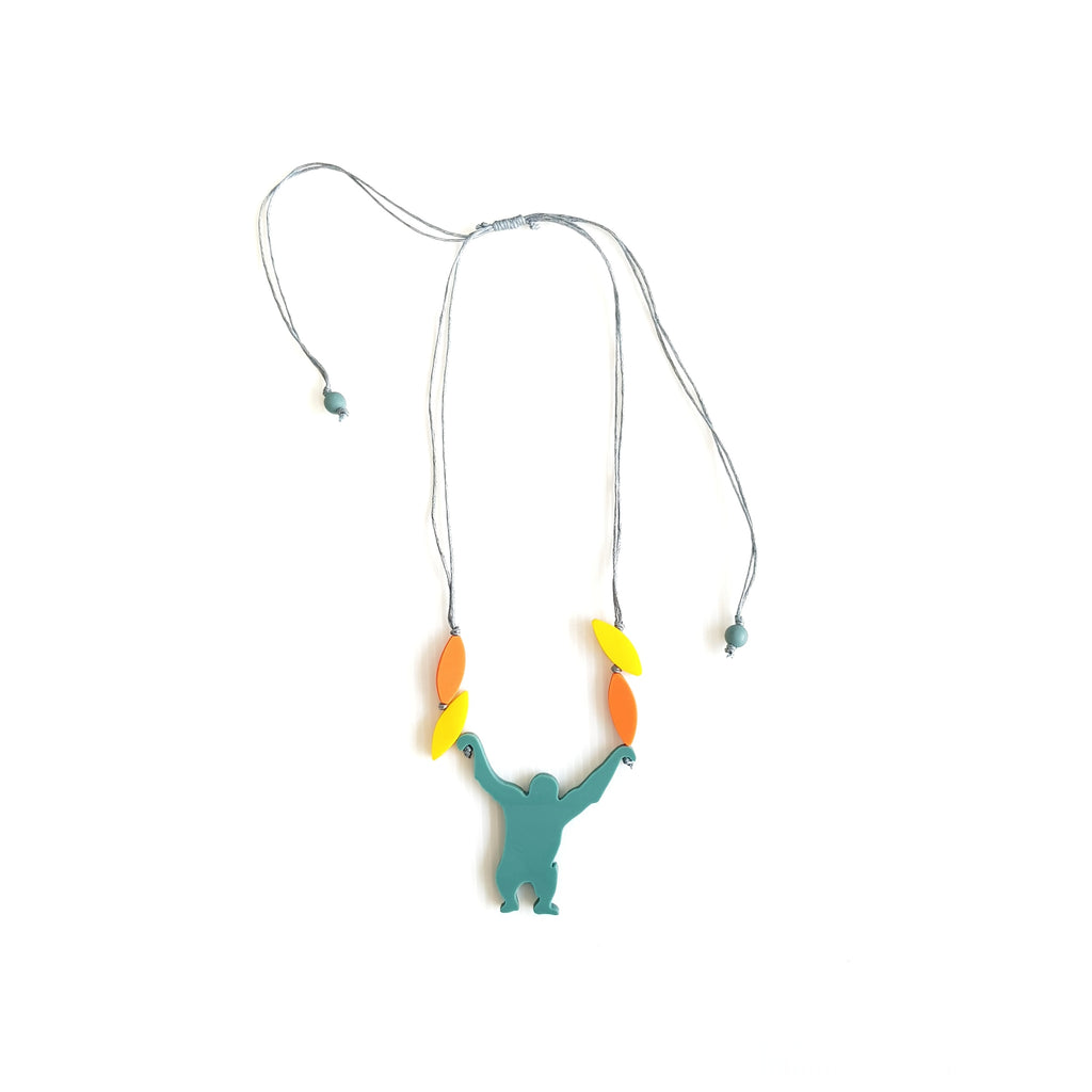 Orang utan green necklace