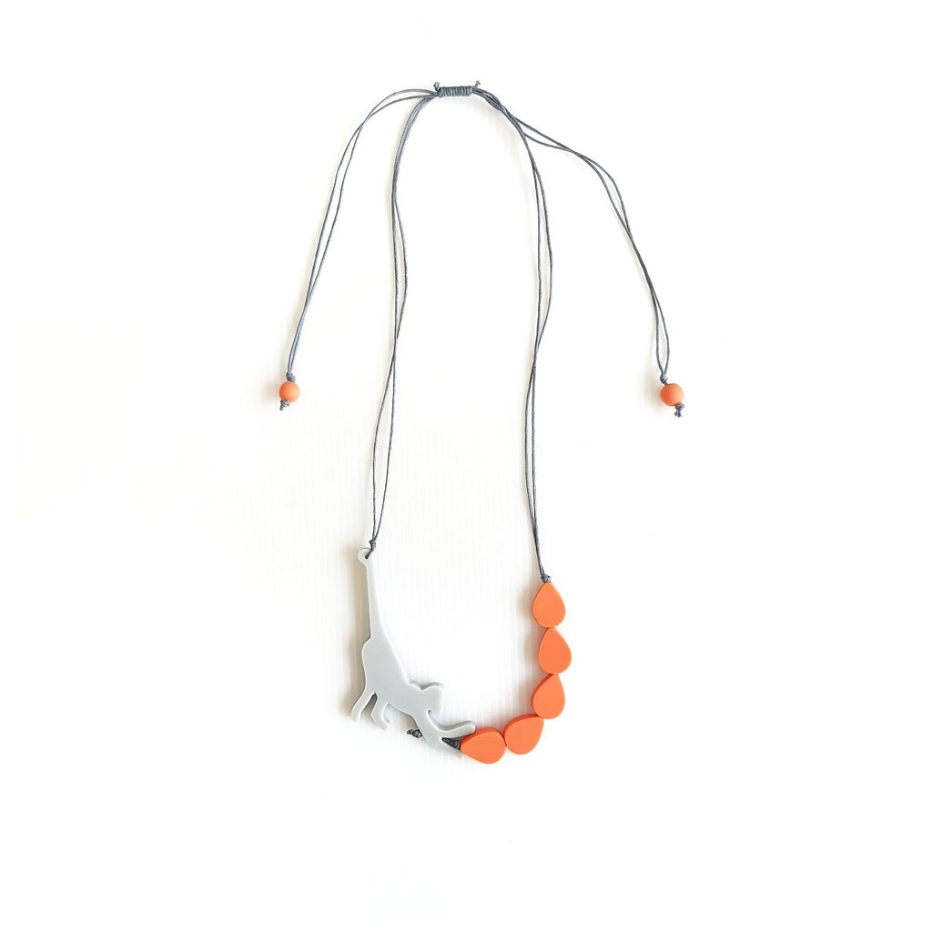 Capuchin Grey Necklace