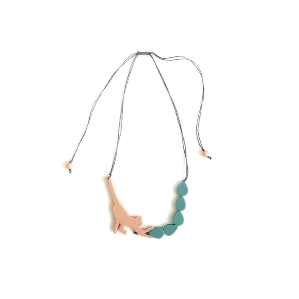 Capuchin Peach necklace