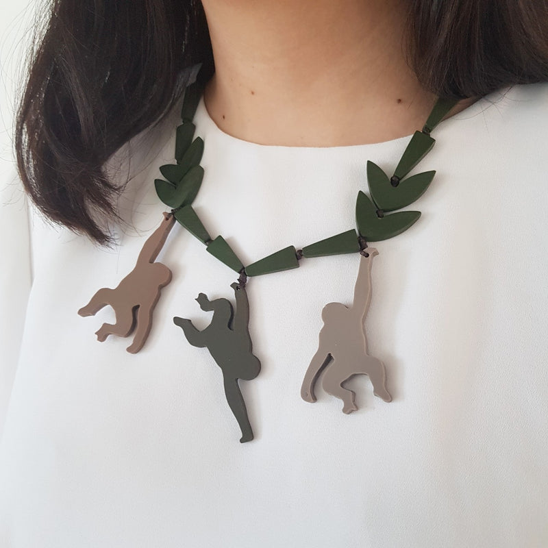 Monkey Jungle Necklace