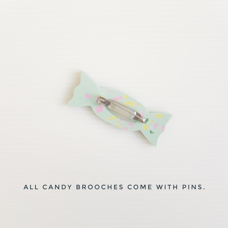 Candy Brooch - Pistachio Pop Rocks