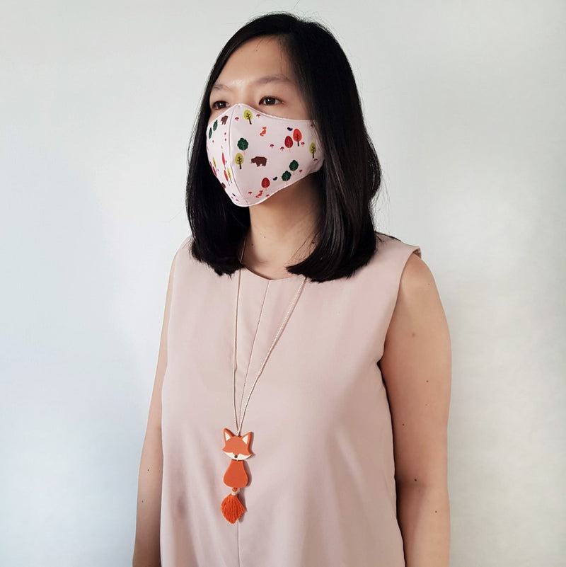 Woodland Mask Bundle - Mr Fox Necklace
