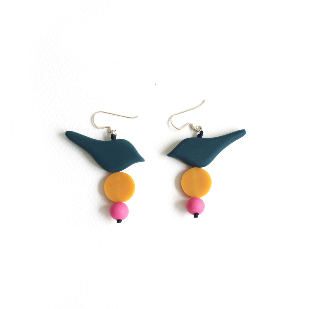 Little Birdie Earrings Navy