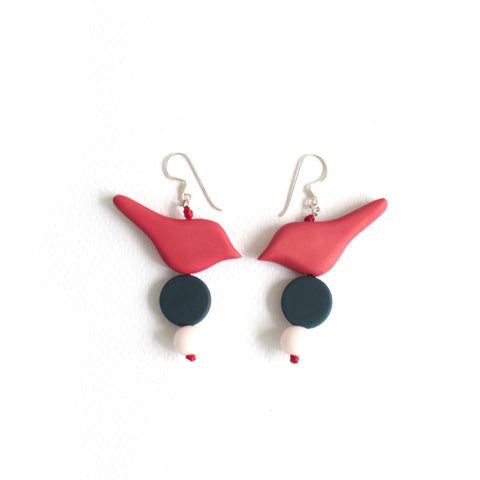 Little Birdie Earrings Fuschia