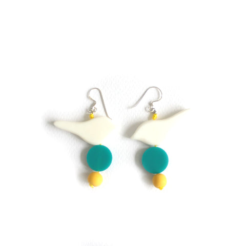 Little Birdie Earrings White