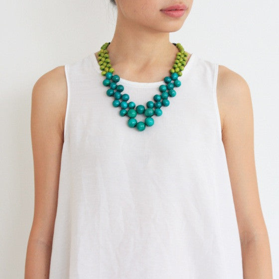Carrie Green Beaded Necklace
