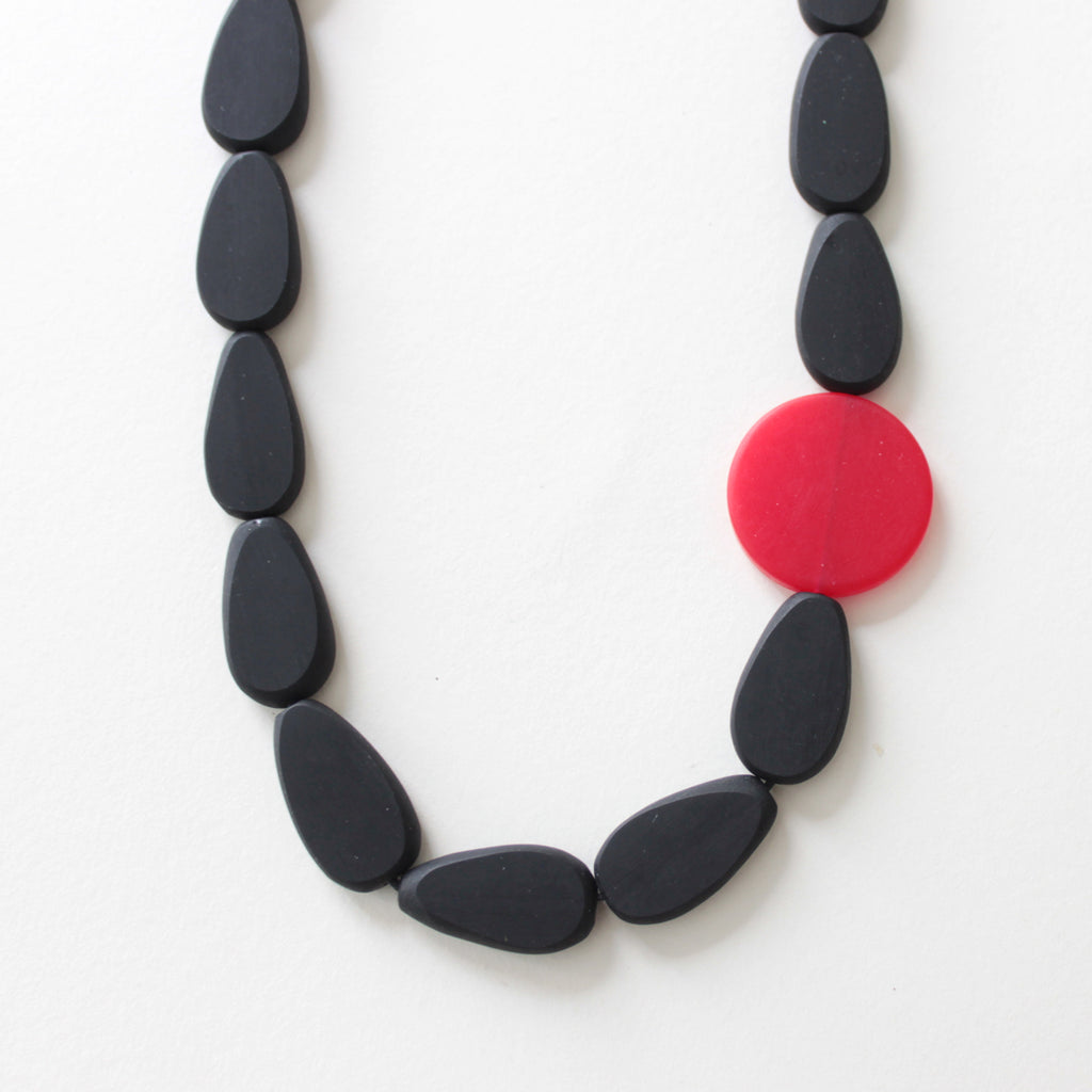 Cloud Black Resin Necklace