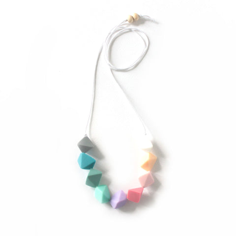 Diamond Pastel Resin Necklace