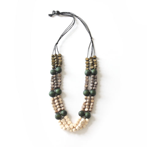Fika Folded Beaded Necklace