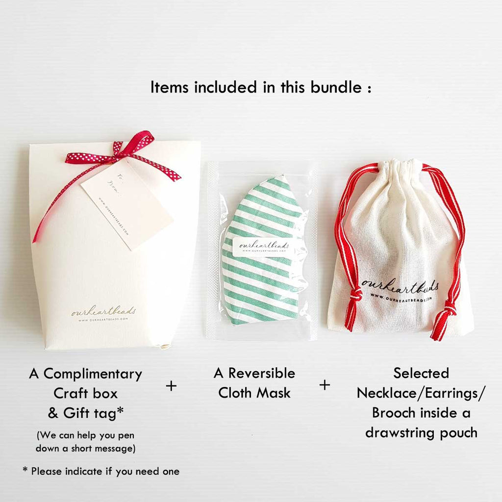 [Pre-order] Green Striped Mask Bundle G