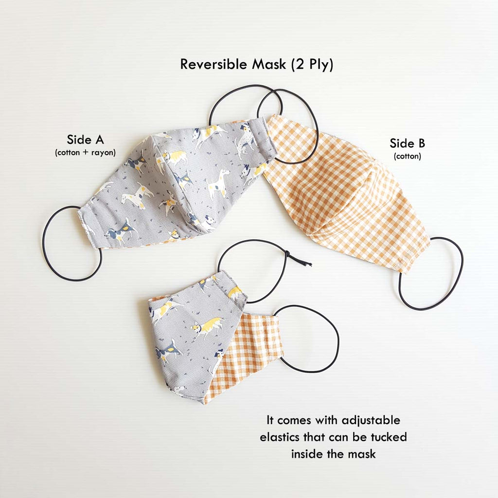 Brown Checkered Mask Bundle B