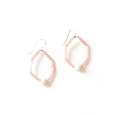 Hoop Blush Earrings