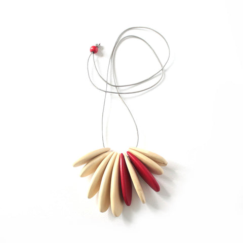 Kalia Red Wooden Necklace