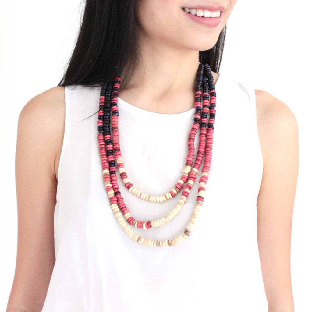 Kayleesh Ombre Pink Necklace