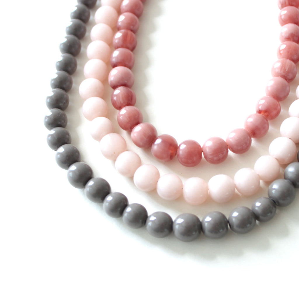 Ling Pink Resin Necklace