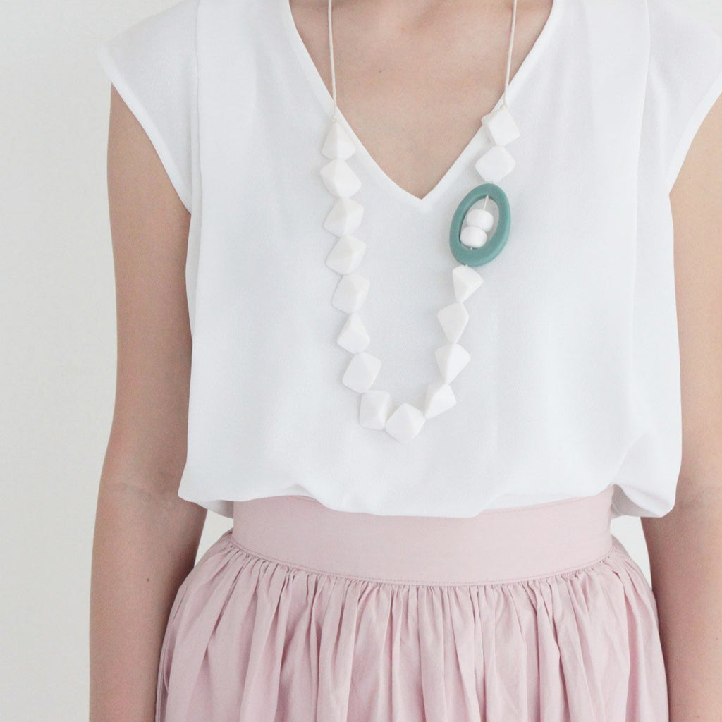 Mich White Necklace