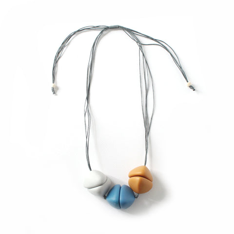 Nobi Blue Mustard Necklace
