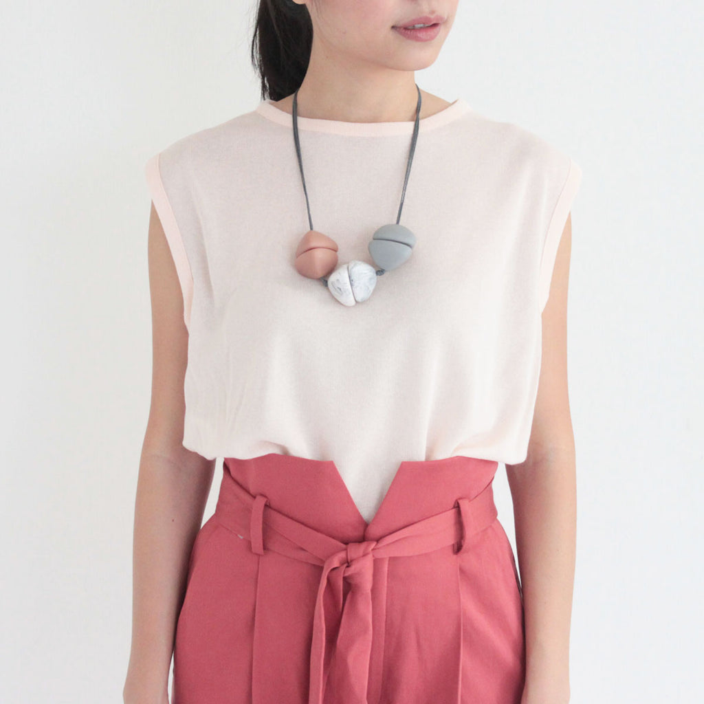 Nobi Nude Marble Necklace