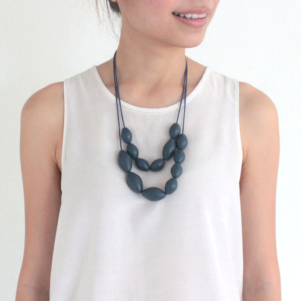 Olive Dark Grey Necklace