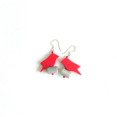 Parrot Red Earrings