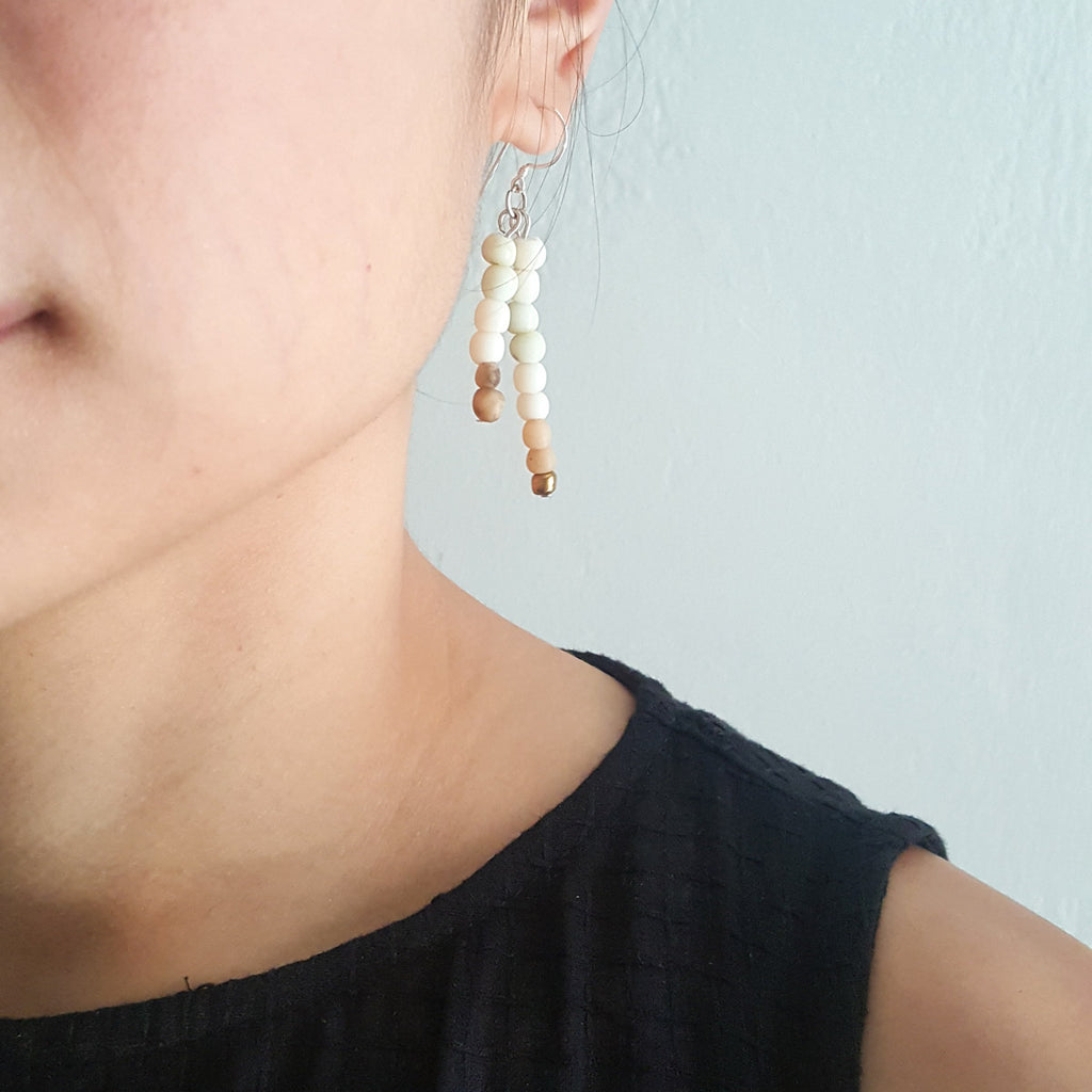 Rain Cream Earrings