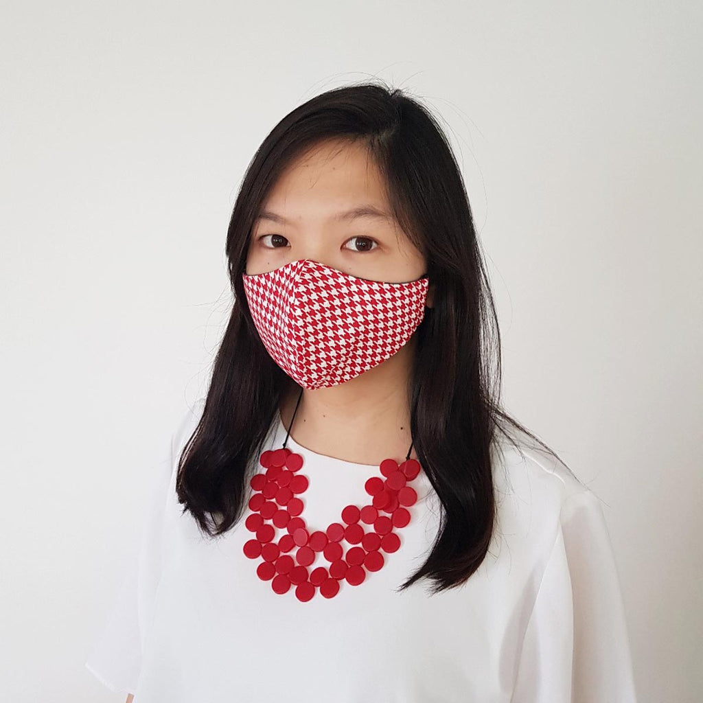 [Pre-order] Red Houndstooth Mask Bundle A