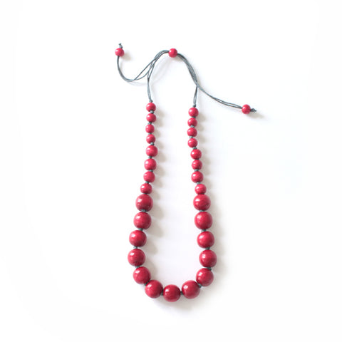 Pearly Red Necklace