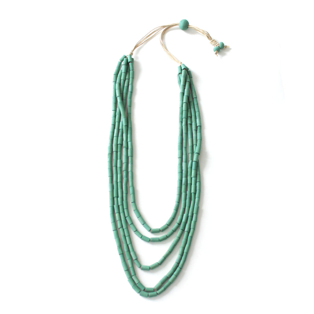 Soraya Green Multilayer Necklace