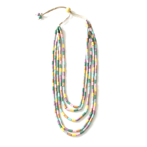 Soraya Rainbow Multilayer Necklace