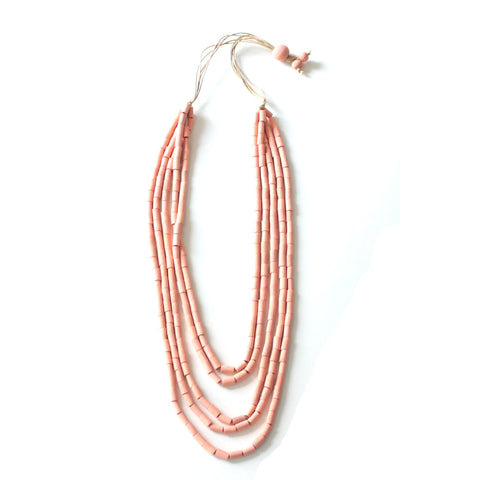 Soraya Peach Multilayer Necklace