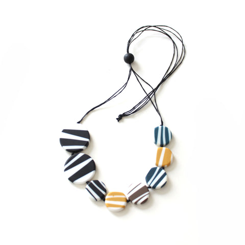 Stripey Resin Necklace