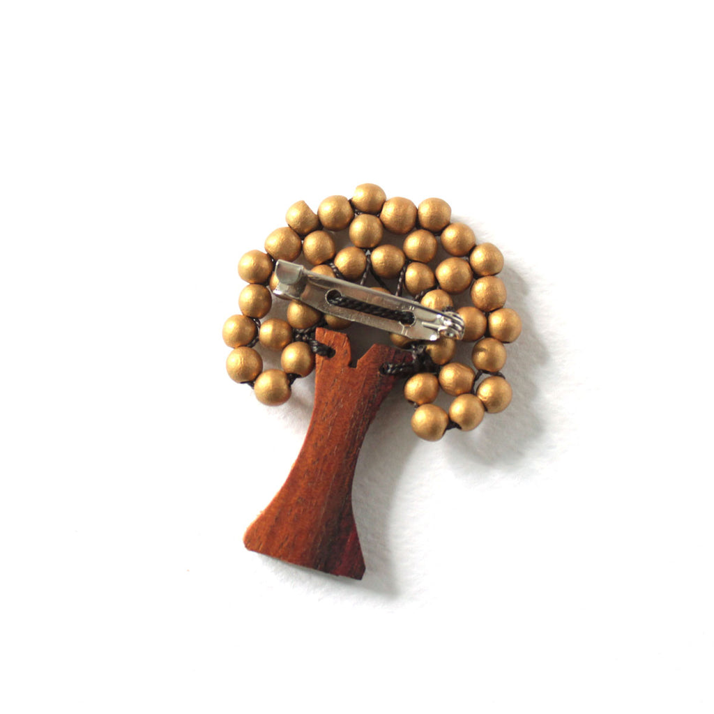Mini Tree Brooch Gold (New Colour)