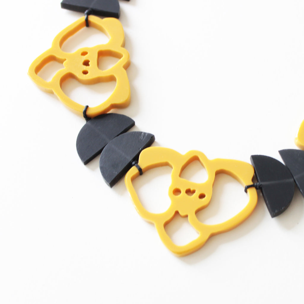 Orchid Mustard Necklace