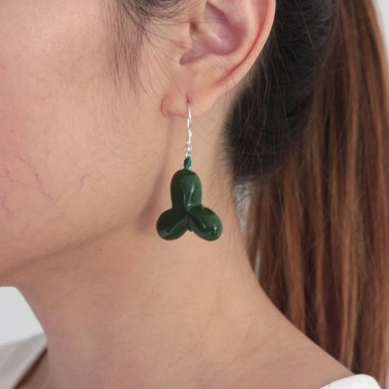 Yurike Navy Green Earrings