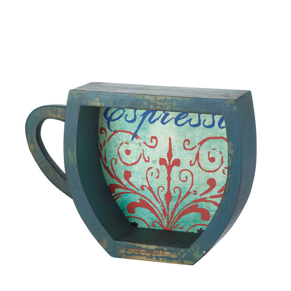 Fantastic Blue Style Coffee Mug Shelf