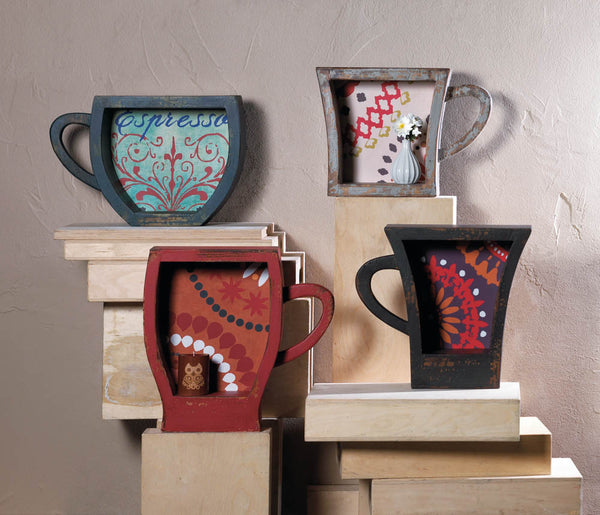 Charming Wooden Coffee Mug Shelf